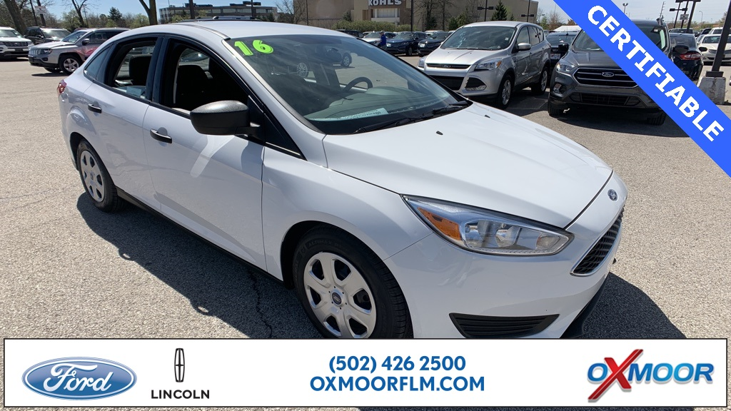 Certified Pre Owned 2016 Ford Focus S